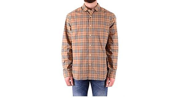 940431aec9a Amazon.com: BURBERRY Men's Alexander Camel Check Shirt XXL: Clothing