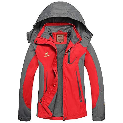 Women's Hooded Waterproof Jacket-Diamond Candy lightweight Softshell Casual Sportswear Red Small (Casual Sportswear)