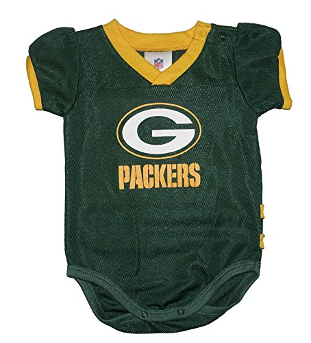 Major League Packers Green Bay Jersey Baby Boys and Girls Bodysuit (18 Months)
