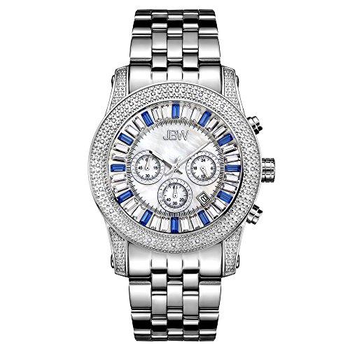 JBW Luxury Men's Krypton 0.30 Carat Diamond Wrist Watch with Stainless Steel Bracelet