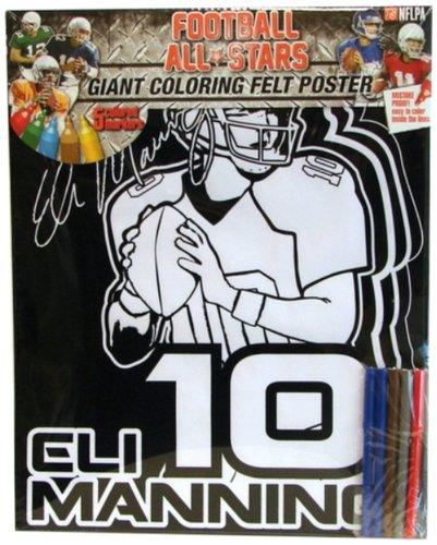 Amazon.com: Karmin International Eli Manning Giant Felt Coloring ...