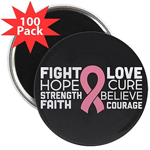 CafePress - Fight Hope Strength Faith - 2.25'' Magnet (100 pack) by CafePress
