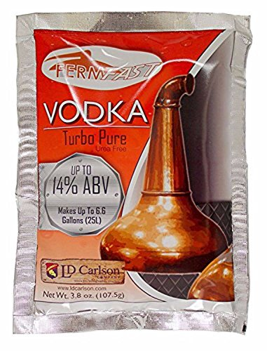 Grain Vodka (Home Brew Ohio HOZQ8-556 Fermfast Vodka Turbo Yeast 107.5 G Packet, White)
