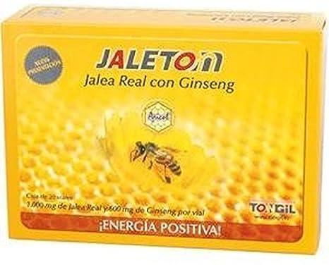 Apicol Jaleton Jalea Real y Ginseng 20 ampollas de Tongil: Amazon.es: Salud y cuidado personal