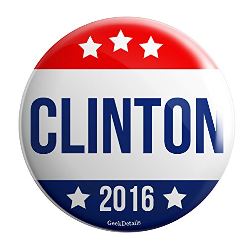 "Geek Details Clinton 2016 Political 2.25"" Pinback Button"
