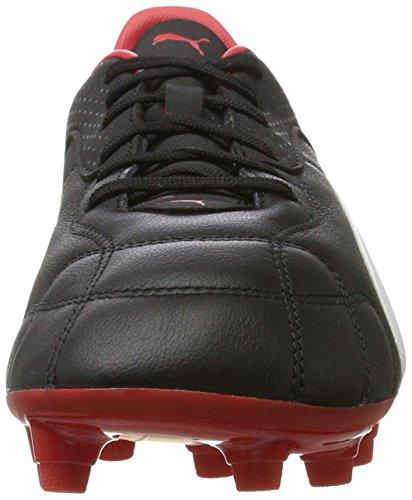 Puma Esito C Fg, Zapatillas de Fútbol para Hombre Negro (Black-white-red)