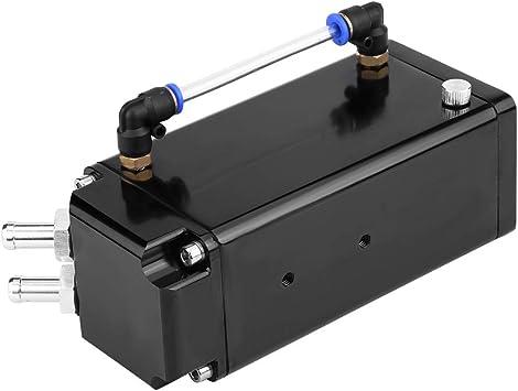 SQUARE FULL BILLET ALUMINUM ENGINE OIL CATCH RESERVOIR BREATHER TANK//CAN BLACK