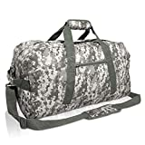 DALIX Large Gym Bag Duffle Travel Duffel for Men Womens Gym Bags Camouflage