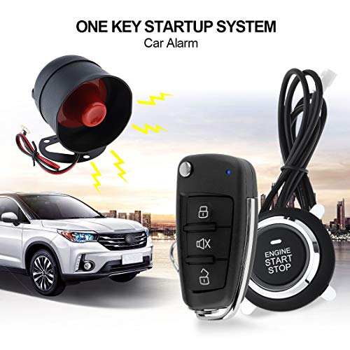 ePathChina Universal Car Alarm System Remote Start Stop Engine System Auto Central Lock Keyless Entry 5A Key 5