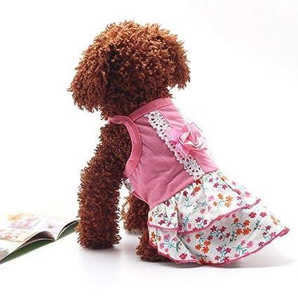 Buy Wintefei Dog Cute Floral Print Sundress Pet Dress Lovely Bowknot