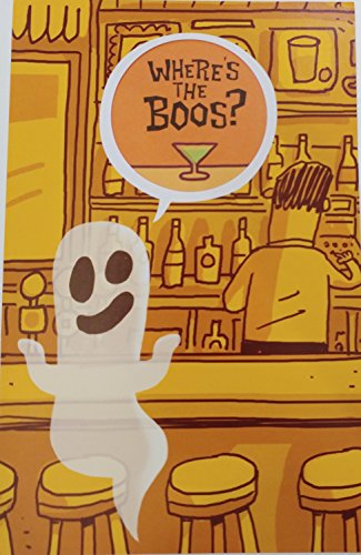 (Where's The Boos? Let us make contact with the Halloween Spirits - Greeting Card - Drinking Party Funny /)