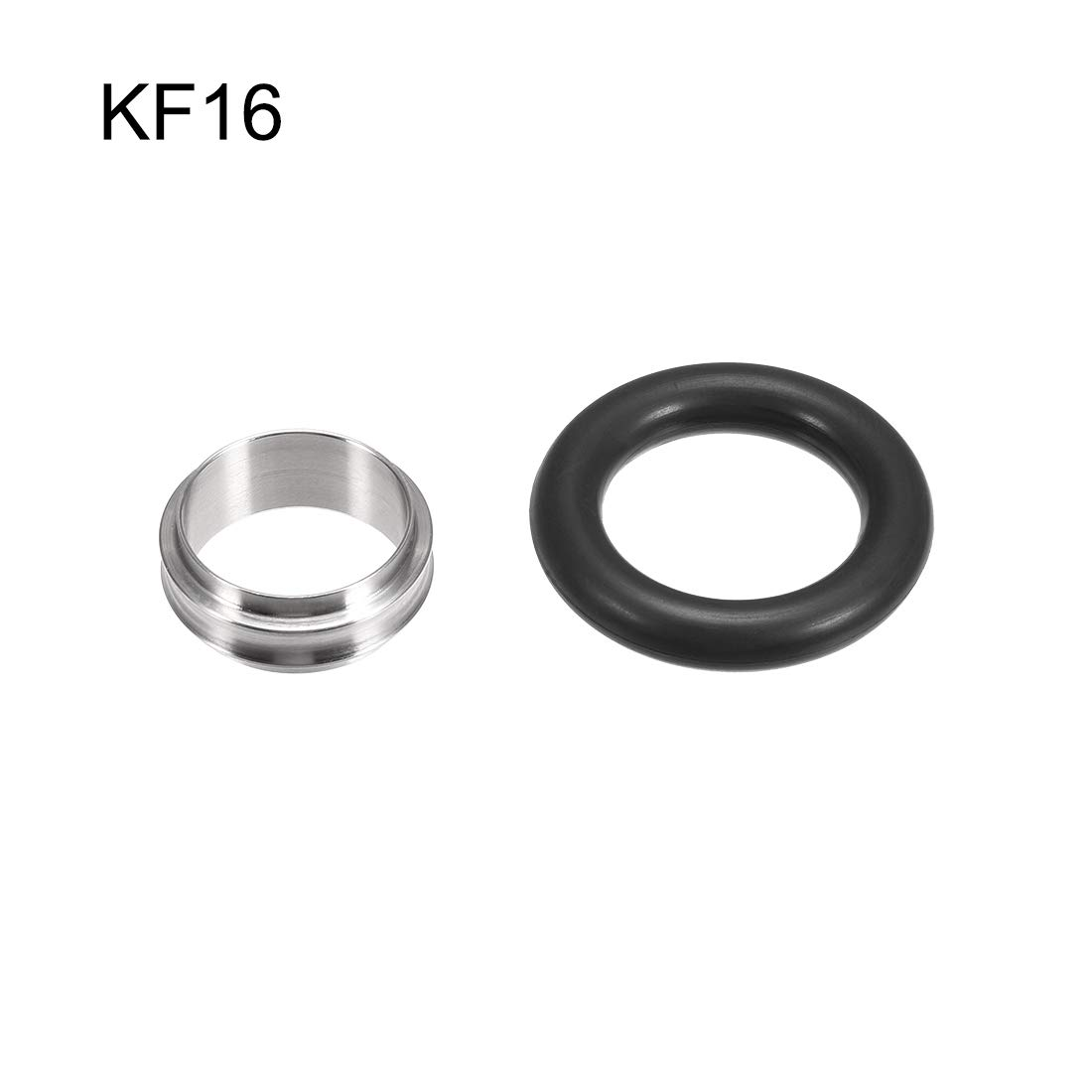 uxcell 2 Pcs Centering Ring KF-16 Vacuum Fittings ISO-KF Flange 29.6mm X 15.6mm Fluororubber O-Ring