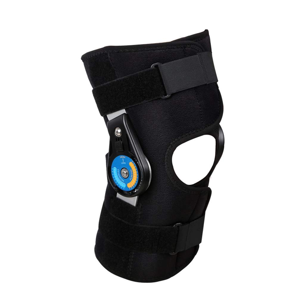 Kneepad Knee Support Single Knee Ligament Injury Strain Adjustable Knee Joint Support Brace Lower Limb orthosis (Size : One Size)
