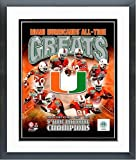 Miami Hurricanes All Time NCAA Greats Composite Photo (Size: 12.5'' x 15.5'') Framed