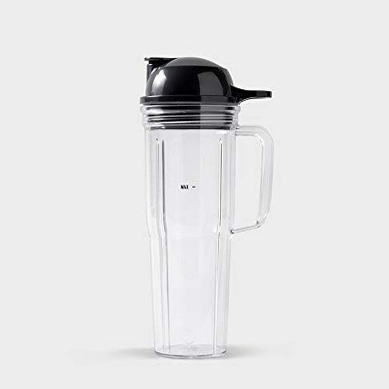 NutriBullet 24 oz Travel Cup with To-Go Lid, Clear/Black