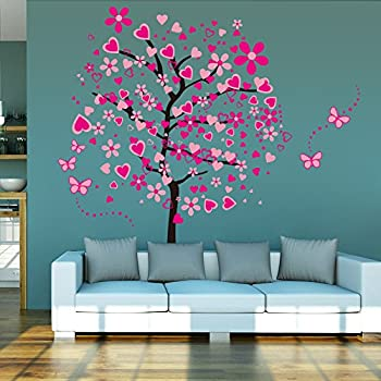 ElecMotive Huge Size Cartoon Heart Tree Butterfly Wall Decals Removable  Wall Decor Decorative Painting Supplies U0026 Part 38