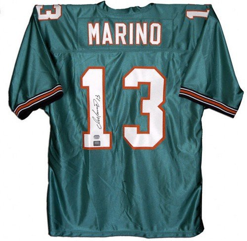 Dan Marino Autographed Miami Dolphins (Teal #13) Jersey