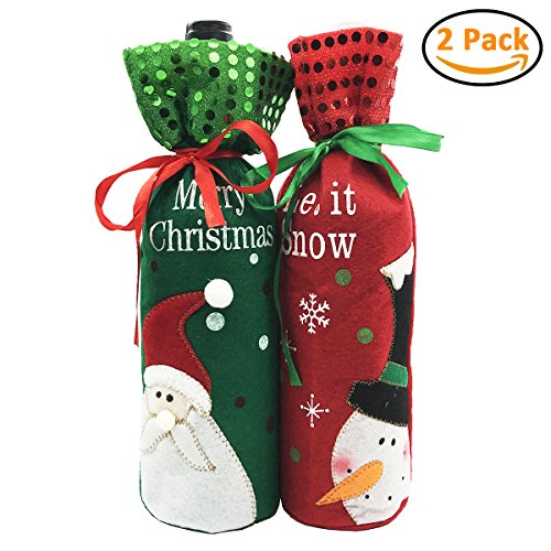 Christmas Wine Bottle Bag Cover for