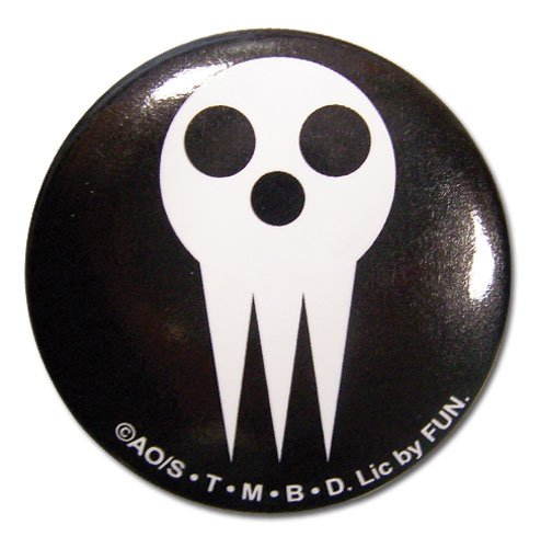 (Great Eastern Entertainment Soul Eater Shinigami Skull Button, 1.25