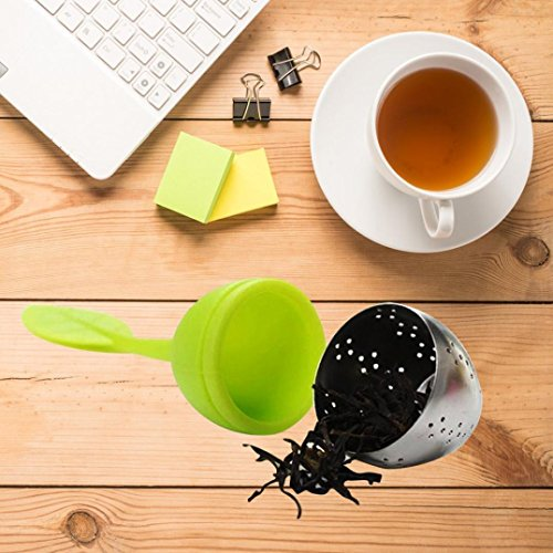 LtrottedJ 4pc Portable Silicone Leaf Shape Tea ,Strainer T