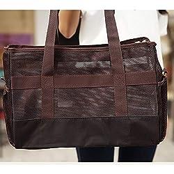 LTLHXM Pet Carrier,Portable Dog Cat Handbag Outdoor Soft Sided Pet Shoulder Bag Foldable Travel Tote,Under Seat Pet Travel Carrier,C