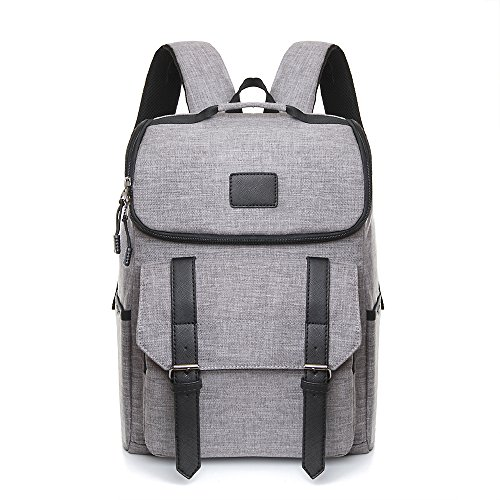 nt Slim Lightweight Laptop Backpack Business Rucksack Casual Daypack for School Working Hiking,Large Capacity Travelling Backpack Fits up to 15.6Inch Macbook in Grey (Gray Womens Backpack)