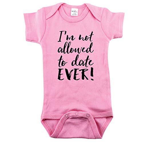 Not Allowed to Date, Baby Girls Outfit, Funny Girl Outfit, 3-6 -