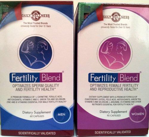 6 месячный запас: Рождаемость смесь Дополнение для мужчин и фертильности Blend Дополнения для женщин