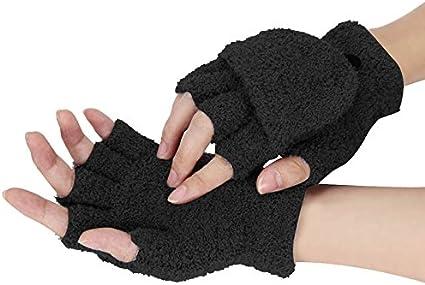 Womens Winter Hand Warmer Fingerless Thermal Wrist Gloves Knitted Woolen Mitten