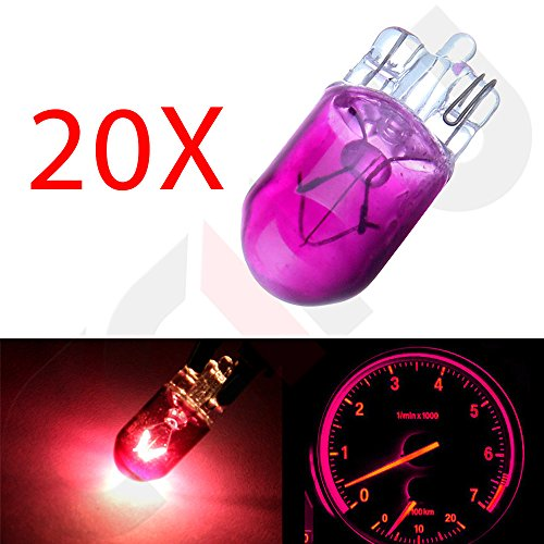 (cciyu T10 194 168 Instrument Cluster Gauge Dash Halogen Bulb Replacement fit for Interior Light(20Pack Purple))