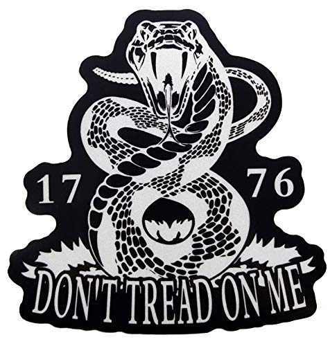Firehouse Graphics 2 Pack 3M Reflective Don't Tread on Me Gadsden Flag Rattlesnake We The People Decal Vinyl Sticker 2a Second Amendment American Flag Constitution (3
