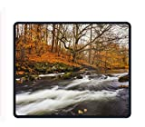 River Fall Forest Tree Mouse Pad Customized Rectangle Non-Slip Rubber Mousepad for Gaming