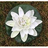 paradieseinkauf - Fiore artificiale galleggiante, modello ninfea, 22 cm bianco