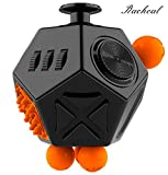 The Best 12 Sided Fidget Cube by The Racheal Collections - Stress Relief AnxietyToy – Increases Focus and Attention for Adults and Children with ADHD, ADD, OCD, Autism.
