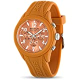Sector Men's Quartz Watch with Orange Dial Analogue Display and Orange Silicone Strap R3251576007