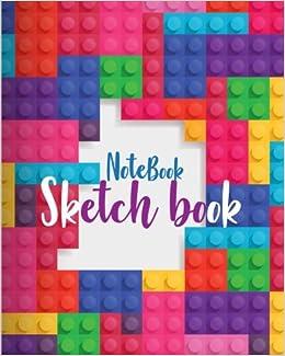 notebook sketchbook block toy brick background cover notebook sketchbook paper book for sketching drawing journaling doodling sketchbooks