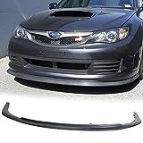 Front Bumper Lip Fits 2008-2010 Subaru Impreza | CS style Black PU Front Lip Finisher Under Chin Spoiler Add On by IKON MOTORSPORTS | 2009