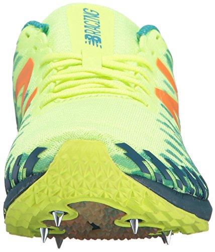 Nieuw Evenwicht Vrouwen 700v5 Verwijderbare Spike Spoor-schoenen, Alpha Roze / Donker Moerbei, 8,5 B Ons Gebleekt Lime Glo / Marokkaanse Blauw