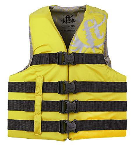 KENT Sporting Goods Co 112200-300-080-19 Full Throttle Vest 4-Belt Nylon Yellow 2XL/4XL