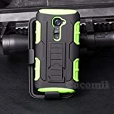 Cocomii Robot Armor LG G2 VS980 LS980 Case New [Heavy Duty] Premium Belt Clip Holster Kickstand Shockproof Bumper [Military Defender] Full Body Dual Layer Rugged Cover for LG G2 VS980 LS980 (R.Green)