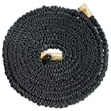 HeyMa  Expandable Hose, With Solid Brass Ends, Triple Latex Core, Most Durable Hose Available, Extra Strength Fabric, 3/4