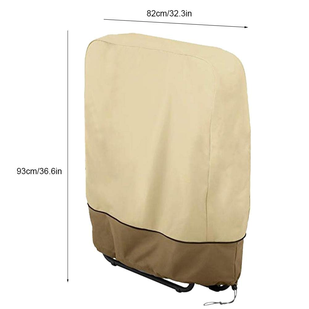 Liukouu Coperture Anti-Polvere sedie a Sdraio con Protezioni per Esterni Beige+Brown