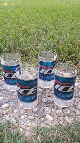 Set of 4 Upcycled Bud Ice tumblers ()