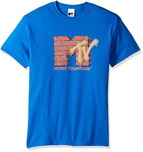 Brick Logo T-shirt (MTV Men's Brick Logo T-Shirt, Royal, M)