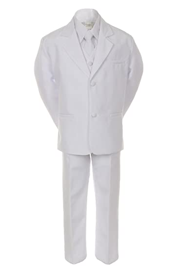 6ced4da1f9d6 Amazon.com  Unotux Boy White 5pc Formal Easter Baptism First ...