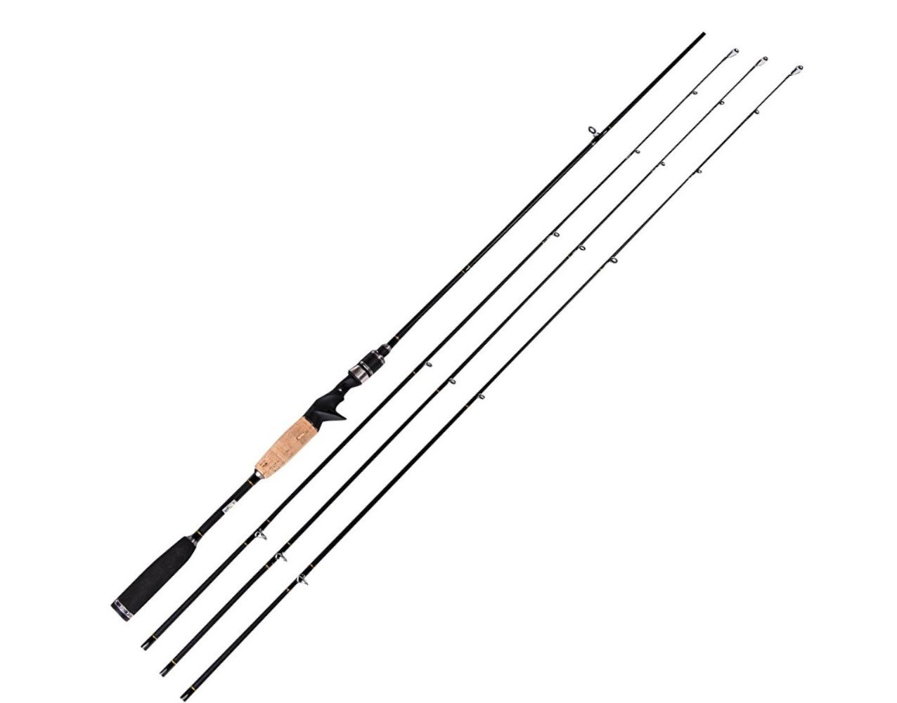 Entsport E Series – Rattlesnake 2-Piece 7-Feet Casting Rod with 3 Top Pieces Graphite Baitcasting Fishing Rod Portable Baitcast Rod Baitcaster Medium Heavy, Medium and Medium Light