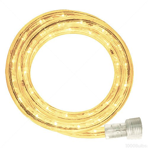Incandescent - 12 ft. - Rope Light - Warm White Clear - 120 Volt - Includes Easy Installation Kit - 042-CL-12 - Foot Clear Rope Lights