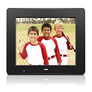 Aluratek ADMSF108F 8-Inch Digital Photo Frame with Energy Efficient Motion Sensor 4GB Built in Memory (Black)
