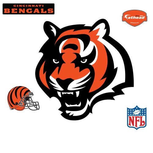 - Fathead NFL Cincinnati Bengals Cincinnati Bengals: Tiger Head Logo - Giant Officially Licensed NFL Removable Wall Decal
