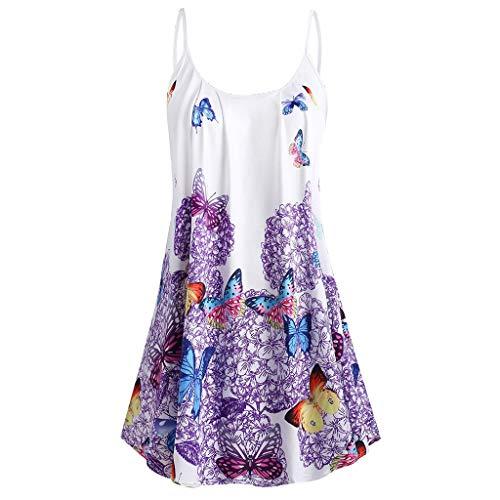 - Sherostore ♡ Women's Flowy Tank Tops Summer Sleeveless Loose Fit Pleated Tunic Shirts A-Line Beach Top Purple